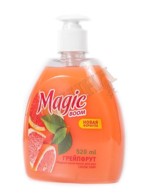 Мыло жидкое для рук Грепфрут 520мл/10  (Magic Boom)