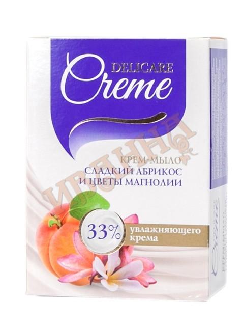 Мыло крем слад.абрикос и цв.магнолии 100г/40 (Delicare)
