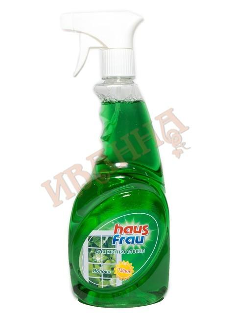 Чистящее средство д/стекол Яблоко 750мл/16 (Haus Frau)